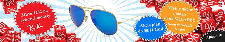 RBicon - akcia na slnečné okuliare Ray-Ban